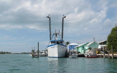 Spanish Wells Bahamas lobster boat