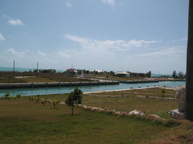 sheltered canal dockage home site Bahamas real estate
